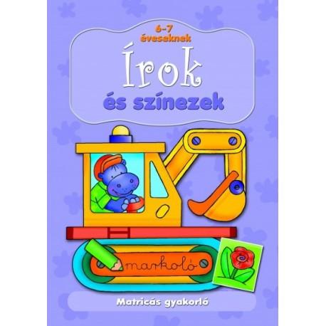Anna Podgórska: Matricás gyakorló. Írok és színezek 6-7 éveseknek