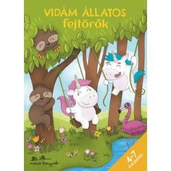 Korsós Szabina: Vidám állatos fejtörők 4-7 éveseknek