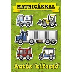 Autós kifestő - Matricákkal