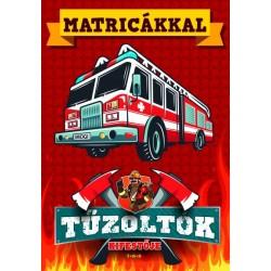 Tűzoltók kifestője - Matricákkal