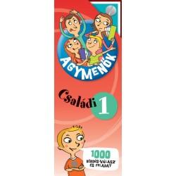 Agymenők Családi kártyacsomag 1. - 1000 érdekes kérdés, válasz és szórakoztató feladat az egész családnak