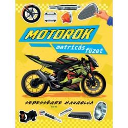 Motorok - matricás füzet