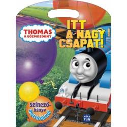 Thomas a gőzmozdony - Itt a nagy csapat! - Színezőkönyv matricákkal
