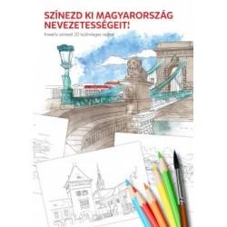 Színezd ki Magyarország nevezetességeit! - Kreatív színező 20 különleges rajzzal