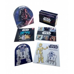 Star Wars - Betűfalók könyvtára - Mesekönyv - színezős foglalkoztató - matricás foglalkoztató 25 matricával és R2-D2 figurával