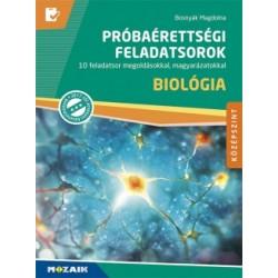 Bosnyák Magdolna: Biológia próbaérettségi feladatsorok - Középszint - 10 feladatsor megoldásokkal, magyarázatokkal (MS-3164U)
