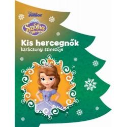 Disney - Kis hercegnők karácsonyi színezője