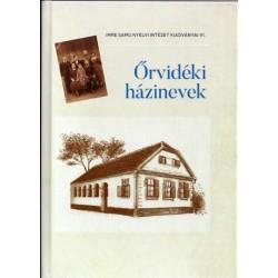 Szoták Szilvia: Őrvidéki házinevek