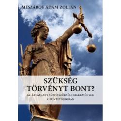 Mészáros Ádám Zoltán: Szükség törvényt bont? - Az ártatlant sújtó szükségcselekmények a büntetőjogban