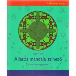 Vigyázó Cili: Állatos mandala színező