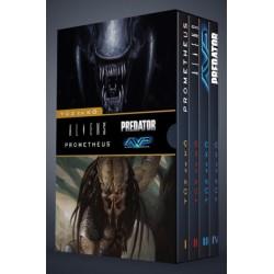 Prometheus + Aliens + Alien vs. Predator + Predator - Tűz és kő + díszdoboz (képregény)